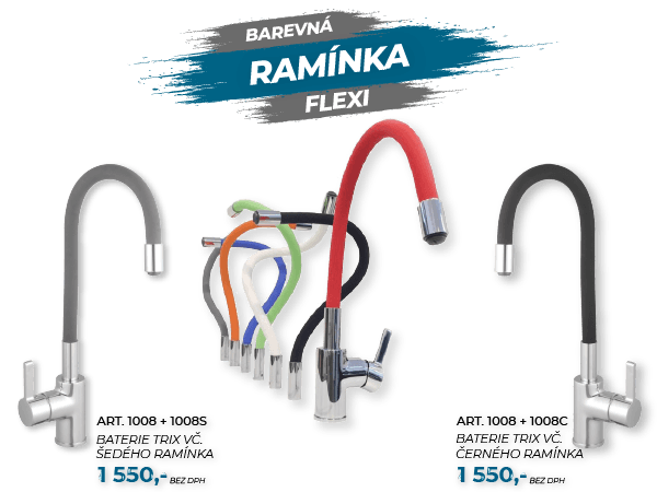 TRIX 1008 - stojánková dřezová s flexibilním ramínkem
